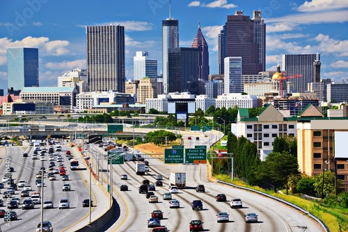 Atlanta skyline and Traffic