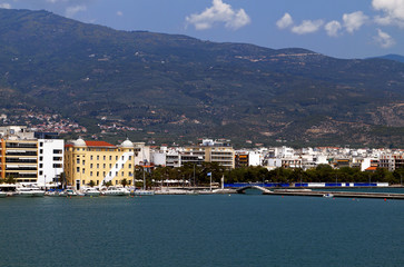 Volos city in Greece. View from the sea.