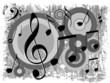Música - Fundo escuro com notas musicais