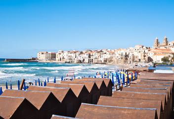 beach of cefalu, Sicily