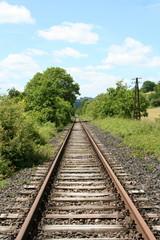 Einspurige gerade Bahnlinie