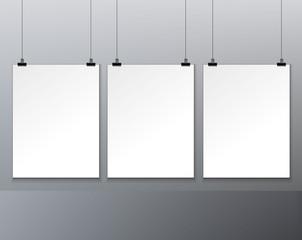 three blank paper
