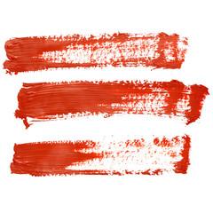 Red brush strokes
