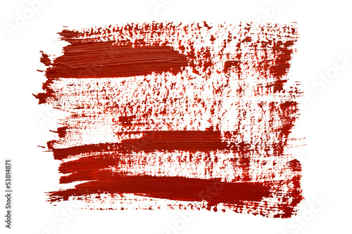Red brush strokes