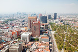 Fototapety Aereal view of Mexico city and the Palacio of Bellas artes