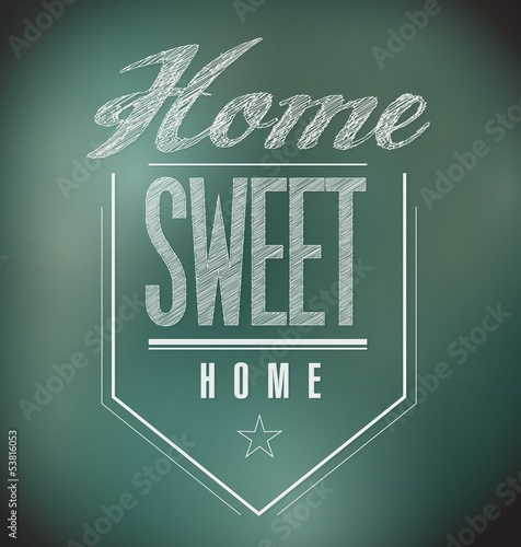 chalkboard Vintage Home Sweet Home Sign poster