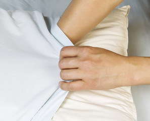 Putting Clean Pilllow Case on Pillow