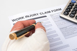 filling up a work injury claim form