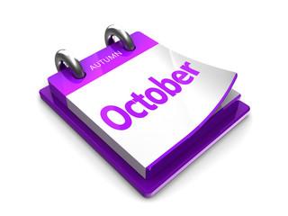 calendar date is october