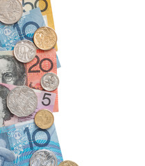 Border with Australian money