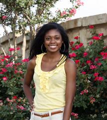 Portrait of Beautiful happy African-American girl
