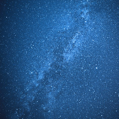 Real milky way galaxy and stars