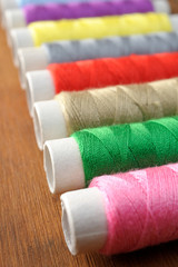 Many spools of thread