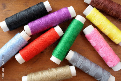 Many spools of thread