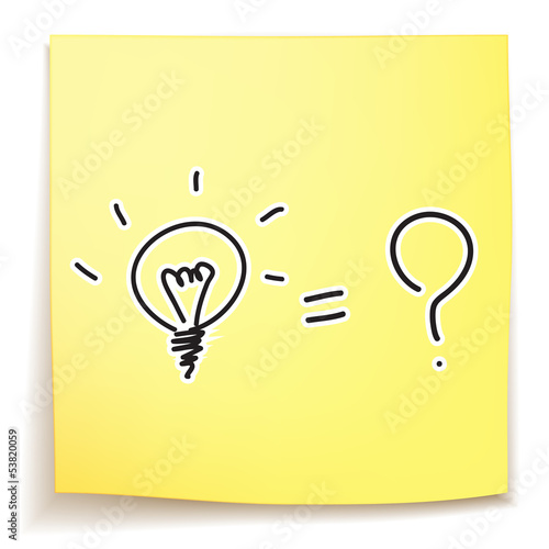 light bulb and question mark idea