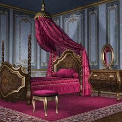 Barokowa sypialnia