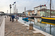 the dock of Cesenatico, Italy