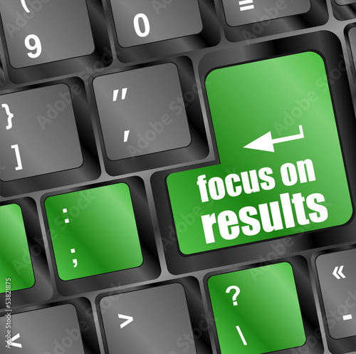 focus on results button on computer keyboard key