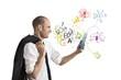 Businessman and internet concept