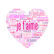 """Carte """"JE T'AIME"""" (coeur déclaration amoureux saint valentin)"""