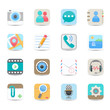 Social media and chat application icons