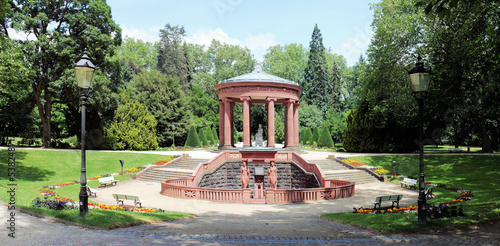 Elisabethenbrunnen Kurpark Bad Homburg Panorama - 2