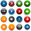 Round color arrow icons.