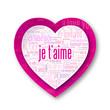 """""""JE T'AIME"""" (coeur déclaration amoureux saint valentin carte)"""