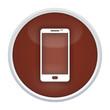 smartphone button braun rund