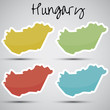 stickers in form of Hungary