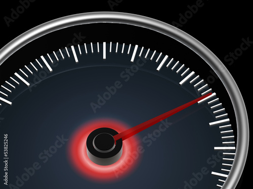 speedometer on dark background