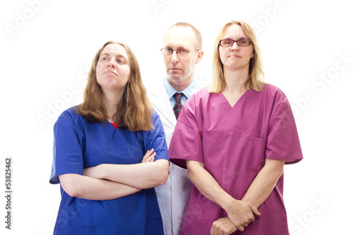 Professional medical doctor team waiting for next patient