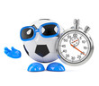3d Football times the game with a stopwatch