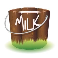 Bucket of Cow Milk-Secchio di Latte