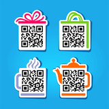 QR-Code. Set of pictograms
