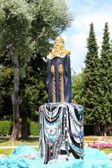 Mosesbrunnen im Stadtpark von Bärnbach in der Steiermark