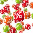 Bunte Kugel mit Prozenten / 3D-Grafik