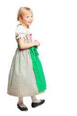 süßes junges Mädchen in Trachtenkleid