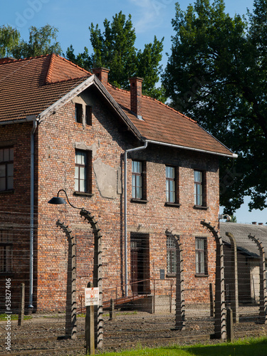 Building in Auschwitz concentration camp