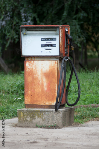 old rusty gasoline station