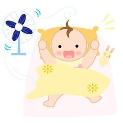 お昼寝する赤ちゃん 目覚める 起きる
