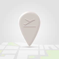 Airborn icon over map