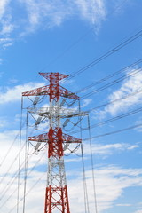 High voltage powerline and pylon