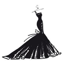 wedding dress vector