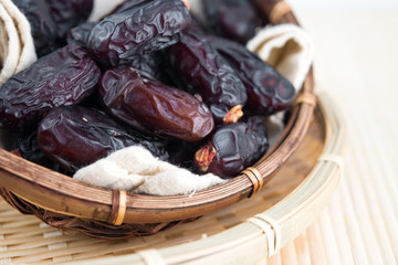 Dried date palm fruits or kurma