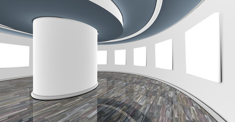 interior de sala de exposiciones