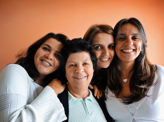 Brazilian Family mom and daughters