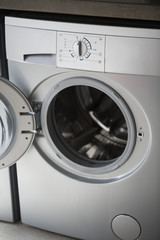 Close-up of a washing machine