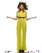 Beautiful girl in yellow dress wearing chaplet