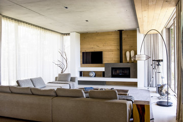 Interiors of a modern living room